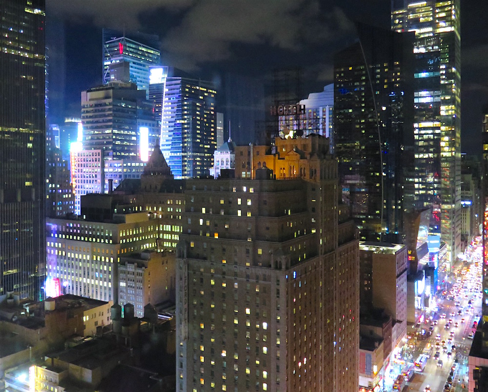 View from the 28th-floor Presidential Suite atop RIU Plaza New York Times Square ©MRNY