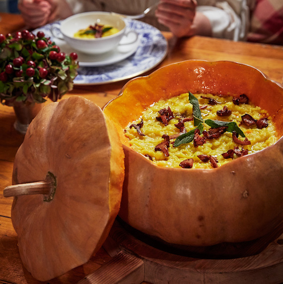 Squash risotto at the Inn at Little Washington ©Melanie Acevedo & David Engelhardt for Rizzoli New York
