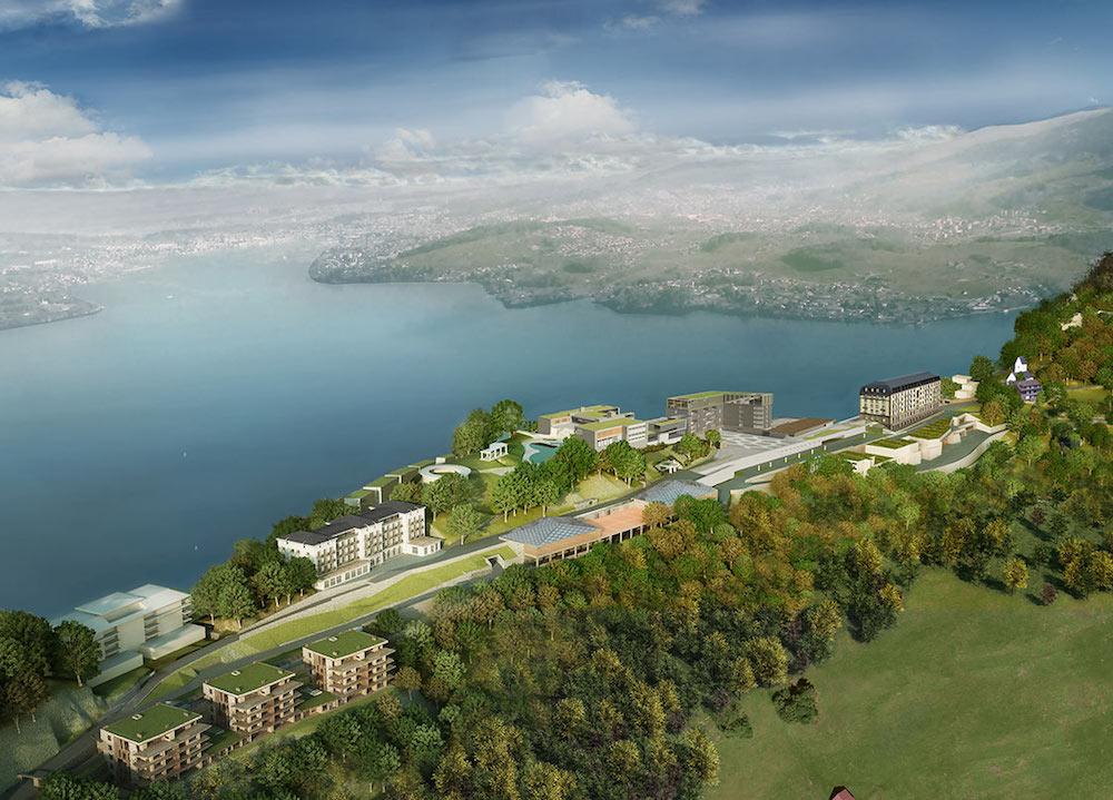 Aerial view of Bürgenstock Resort Lake Lucerne ©Bürgenstock Resort Lake Lucerne