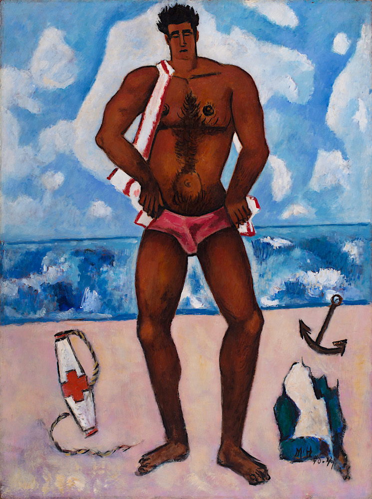 Marsden Hartley (American, 1877-1943) Canuck Yankee Lumberjack at Old Orchard Beach, Maine 1940–41 Oil on Masonite-type hardboard 40 1/8 x 30 in. (101.9 x 76.2 cm) Hirshhorn Museum and Sculpture Garden, Smithsonian Institution