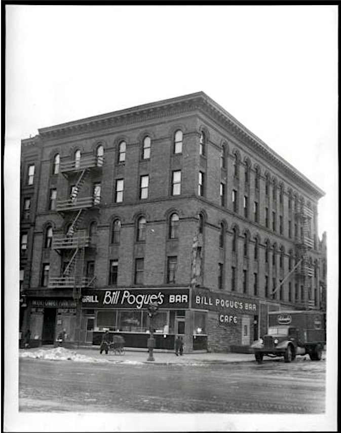News service photo of Bill Pogue's Bar & Grill on 88th Street and Columbia, circa 1947