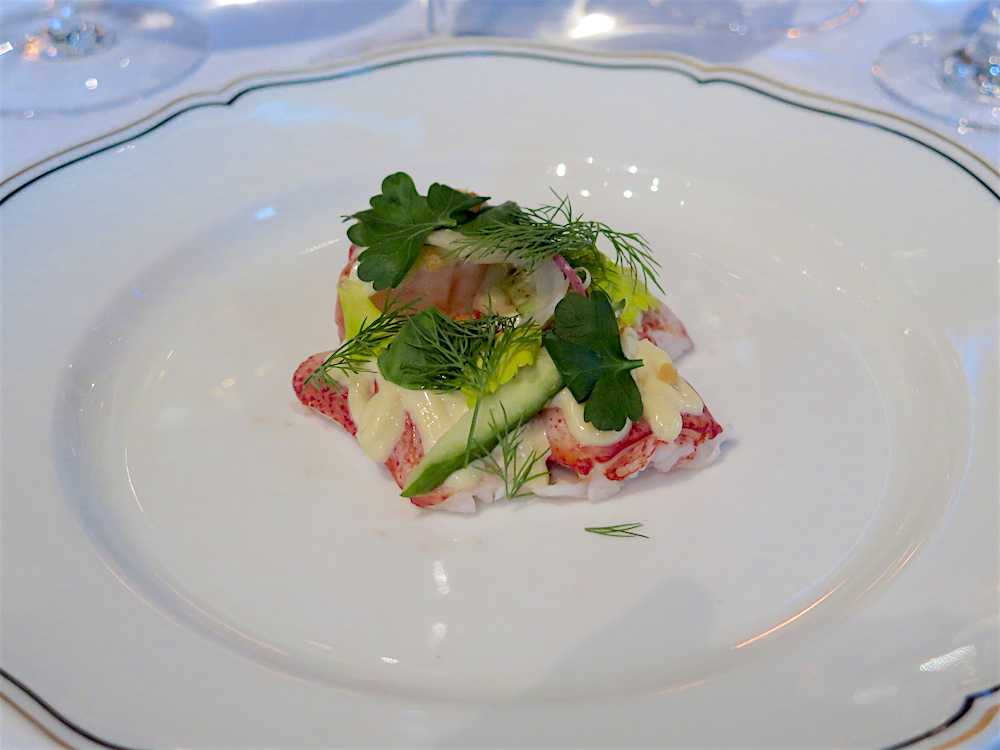 "Lobster Salad ""Continental Style"" w/Lemon Aïoli & Soft Herbs at Del Posto ©MRNY"