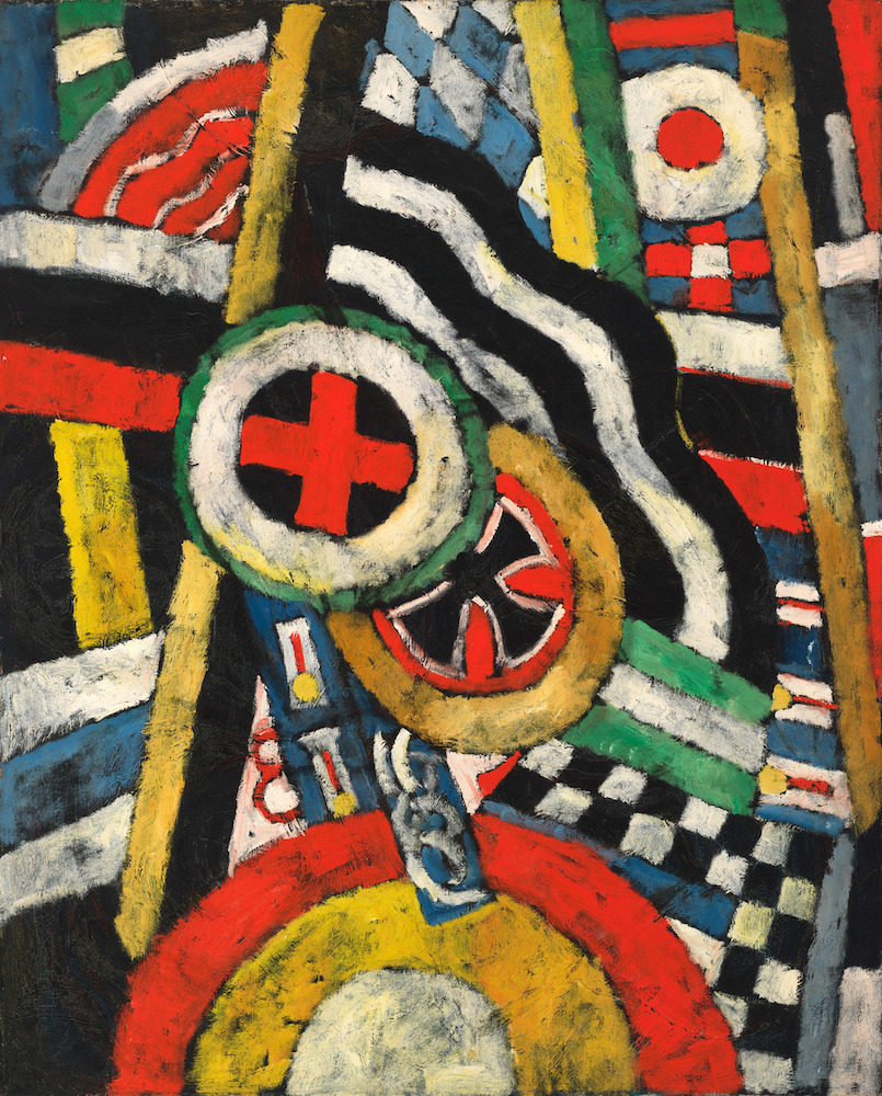 Marsden Hartley (1877-1943), Painting, Number 5, 1914-15. Oil on linen, 39 1/4 × 32 in. (99.7 × 81.3 cm). Whitney Museum of American Art, New York; gift of an anonymous donor 58.65